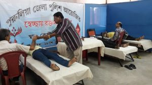 BLOOD DONATION CAMP UNDER Kotshila PS on 28.06.2015